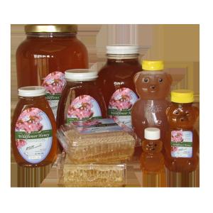 Beeline honey products collage
